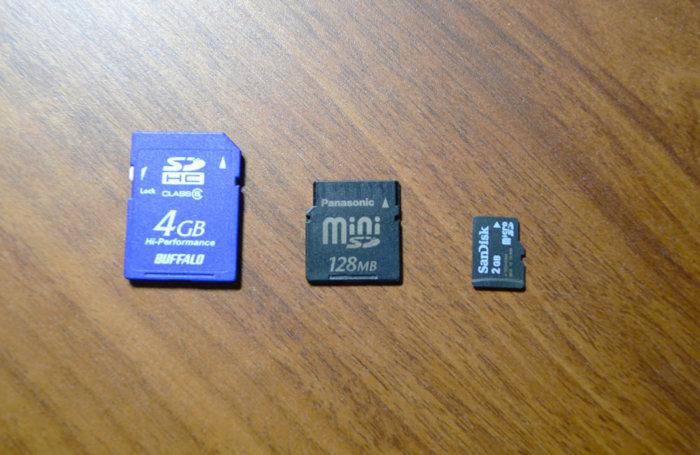 SDカードのサイズ